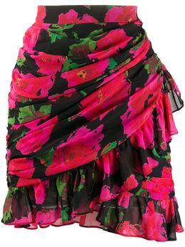 Richard Quinn юбка мини с цветочным узором RQSS2039