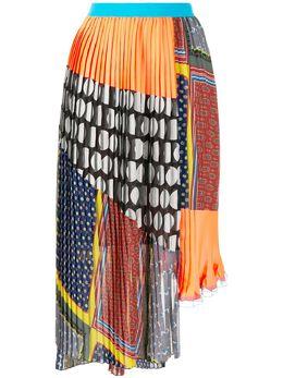 Kolor плиссированная юбка с узором 20SCLS08129