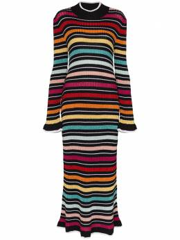 Mary Katrantzou трикотажное платье миди в полоску NKD054RAINDRESS