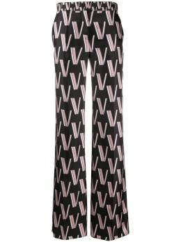 Valentino брюки палаццо с логотипом TB3RB3M154R