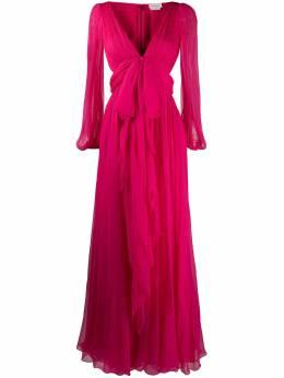 Alexander McQueen вечернее платье с бантом 610982QBAAA