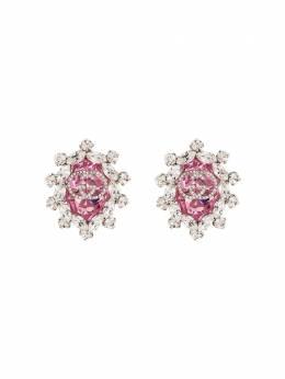 Gucci серьги-клипсы с логотипом GG и кристаллами 608502I4769