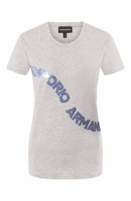 Хлопковая футболка Emporio Armani 3H2T6F/2JQAZ