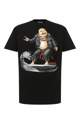 Хлопковая футболка Dom Rebel ZEN/0VERSIZE T-SHIRT