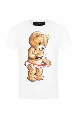 Хлопковая футболка Dom Rebel SNAP/REGULAR T-SHIRT