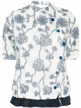 Chloe блузка из органзы с вышивкой CHC20SHT27334