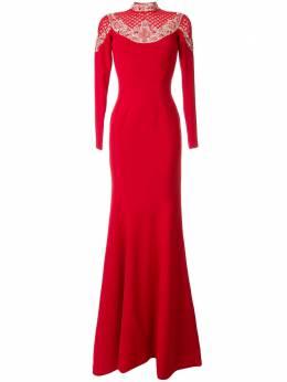 Saiid Kobeisy вечернее платье с вышивкой RSRT2013