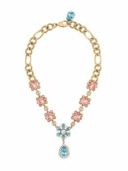 Dolce&Gabbana колье с кристаллами WNM2B5W1111