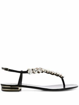 Casadei сандалии с открытым носком и кристаллами 1N156P010MC0677