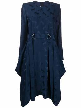 Stella McCartney платье асимметричного кроя с принтом 600237SNA57