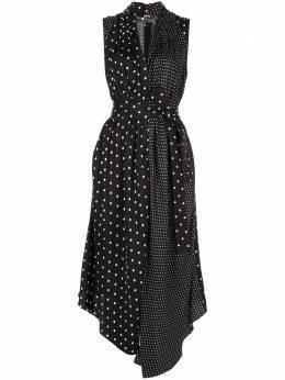 Adam Lippes платье асимметричного кроя в горох S20727PK