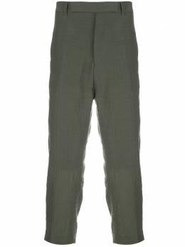 Rick Owens укороченные брюки с жатым эффектом RU20S7372WBR