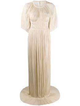 Maria Lucia Hohan платье Candace из тюля с кейпом CANDACE