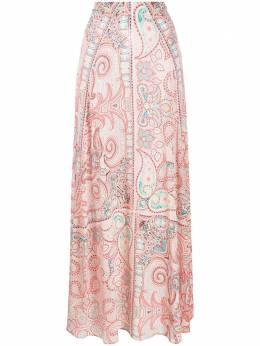 Etro юбка макси с принтом пейсли 133814329