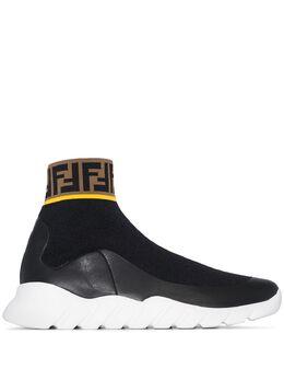 Fendi кроссовки-носки Mania с логотипом 7E1196A3X0