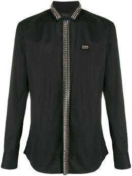 Philipp Plein декорированная рубашка с длинными рукавами S20CMRP1189PTE003N