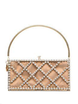 Rosantica сумка Garofono с кристаллами и ручкой-браслетом B129ORCRI