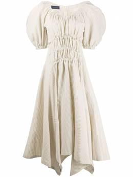Eudon Choi платье миди с короткими рукавами EC20S3D