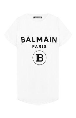 Хлопковая футболка Balmain SF11367/I193