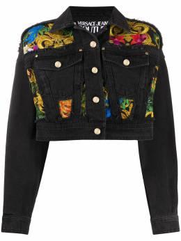 Versace Jeans Couture джинсовая куртка с принтом Baroque C0HVA96JAPD4Z