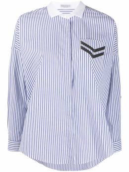 Brunello Cucinelli полосатая рубашка с отделкой на кармане MF784MS116C001