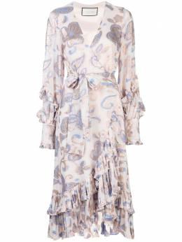 Alexis платье миди Abessa с принтом пейсли A52004175975