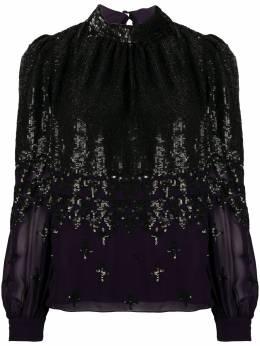 Temperley London блузка с длинными рукавами и пайетками 20SMRR53472