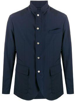 Eleventy куртка строгого кроя с высоким воротником A75GIAA19GBT27007