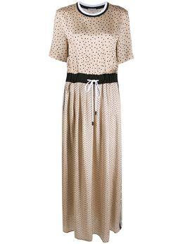 Peserico платье в горох с эластичным поясом M023718119A