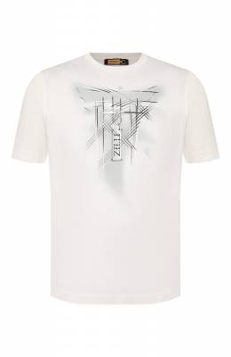 Хлопковая футболка Zilli MBT-NT530-JETE1/MC02