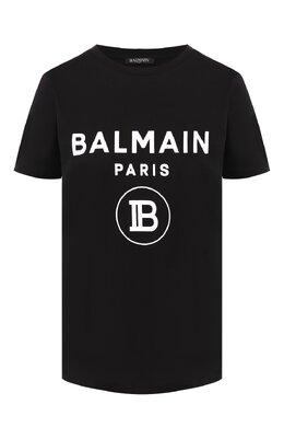 Хлопковая футболка Balmain SF11361/I193