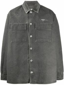 Off-White джинсовая куртка с принтом OMYD017S20E550251002