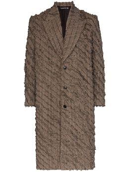 Y / Project однобортное пальто с бахромой COAT30S18