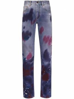 Off-White джинсы с эффектом разбрызганной краски OMYA011S20C300238401