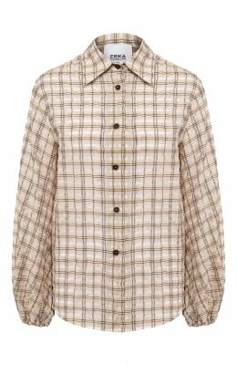 Рубашка из смеси льна и хлопка Erika Cavallini PE/B/E0SP04