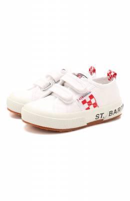 Хлопковые кеды Mc2 Saint Barth STBA B0ULEVARD/B0UL001/23-28