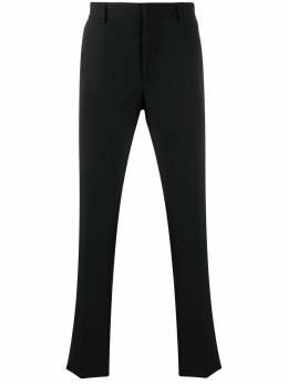 Fendi строгие брюки скинни с логотипом FB0514AA8R