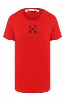 Хлопковая футболка Off-White 0WAA049S20JER0092510