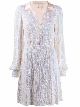 Temperley London коктейльное платье с пайетками и открытым воротником 20SCNS53596