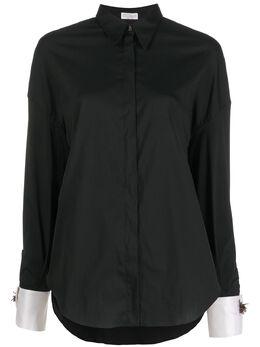 Brunello Cucinelli рубашка свободного кроя с контрастными манжетами M0091MK506C101