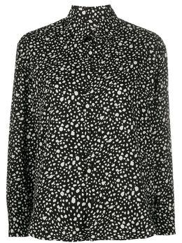 Saint Laurent рубашка с анималистичным принтом 590084Y1A78