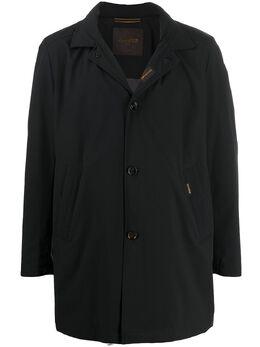 Moorer однобортное пальто с разрезом сзади P20M270STKA