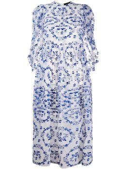 Simone Rocha платье из тюля с цветочной вышивкой 37080346