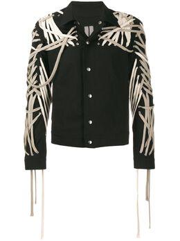 Rick Owens куртка-рубашка со шнуровкой RU20S7784TEEW3