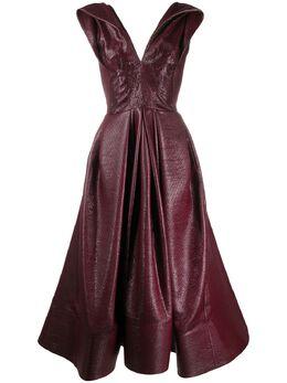 Maticevski приталенное платье Mariposa с расклешенным подолом DR451519