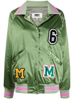 Mm6 Maison Margiela атласная куртка с нашивками S52AM0136S52534