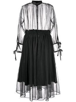 Comme Des Garcons Noir Kei Ninomiya прозрачное платье Ninomiya 3EO006S20