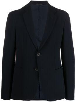 Giorgio Armani строгий пиджак узкого кроя 9SGGG06LT01EE