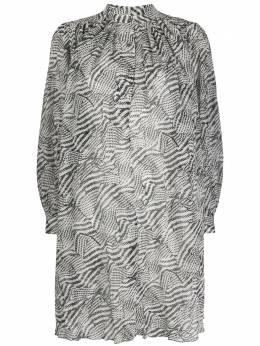 Isabel Marant присборенное платье-трапеция с абстрактным принтом RO160120P024I