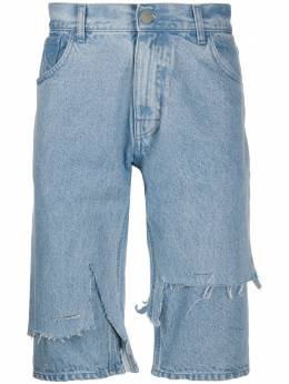 Raf Simons шорты с эффектом потертости 2013121013100042